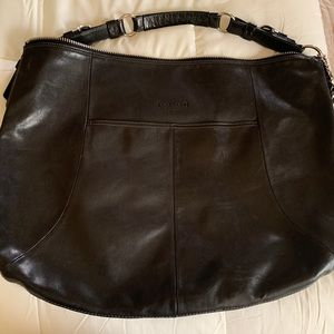 Coach Black leather hobo
